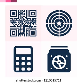 Contains such icons as qr code, target, calculator and more 1000x1000 pixel perfect.