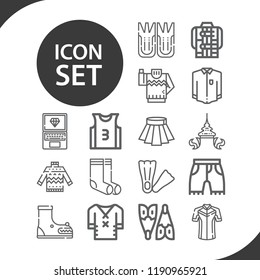 Contains such icons as socks, jacket, clothes, shorts, skirt, sweater, thai, shirt, jersey, fins, flippers, flipper, laptop and more.  1000x1000 pixel perfect.