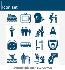 Contains such icons as talk, speech, laughing, beach, startup, tv, bus, cruise, fan, family, fathers day, pregnancy and more.  1000x1000 pixel perfect.