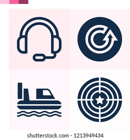 Contains such icons as target, headphones, hovercraft and more 1000x1000 pixel perfect.