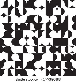 Contemporary Art Black and White Abstraction, Chess Absract Design Concept, Champion Monochrome Geometric Squares Pattern, Checkered Repeat Tiles, Square Minimal Chequered Texture