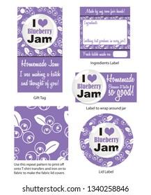 Contemporary blueberry jam design