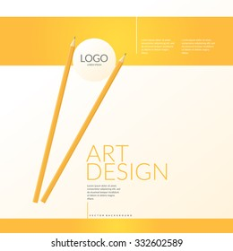 Contemporary bright background to showcase your logo and style. Vector illustration.