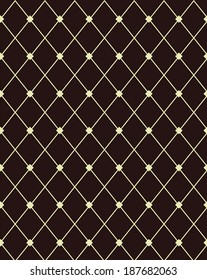 Contemporary brown and beige diamond pattern