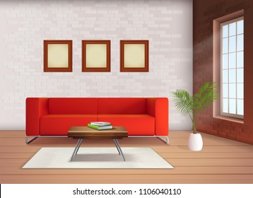 Modern Red Sofa Stock Vectors, Images & Vector Art ...