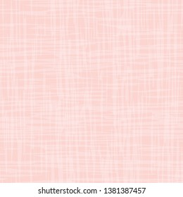 Contemporary pastel pink and white watercolor effect subtle texture. Vector seamless grid pattern on pink background. Perfect for packaging, wellness, girl, baby products, stationery, fabric, gifts