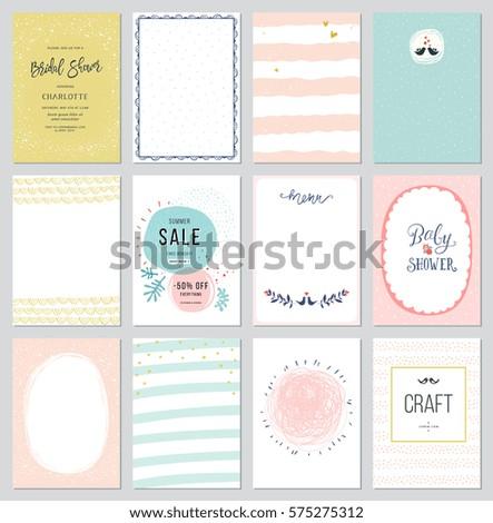 contemporary universal cards templates design invitations stock