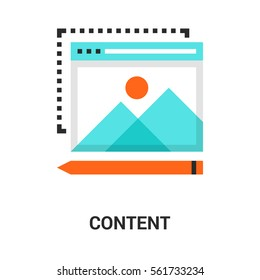 content icon concept.