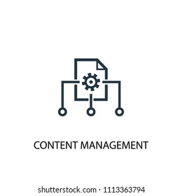 Content management icon. Simple element illustration. Content management concept symbol design from Digital marketing collection. Can be used for web and mobile.