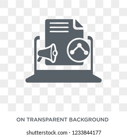 Content Marketing icon. Trendy flat vector Content Marketing icon on transparent background from Technology collection.