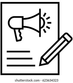 Content Marketing Vector Icon