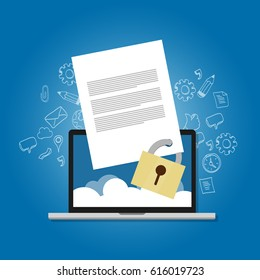 content security file protection document paper locked confidential safety encryption forbidden