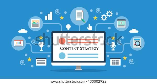 Content-Strategie-Vektor