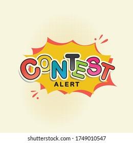 Contest Alert pop up template