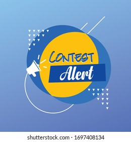 Contest Alert Symbol with abstract background