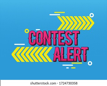 Contest alert template with abstract elements
