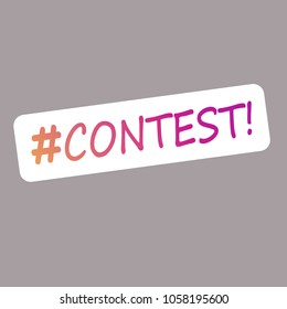 Contest lettering text banner. Social network contest. EPS 10