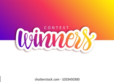 contest winners banner