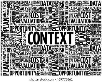 Context word cloud collage, business concept background