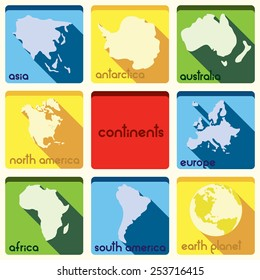 Continent icons