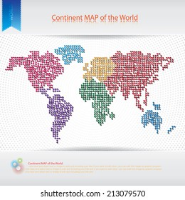 Continent MAP of the World