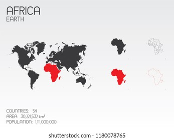 A Continent Shape Illustration of Africa