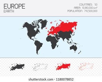A Continent Shape Illustration of Europe