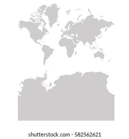 Continents With Antarctica