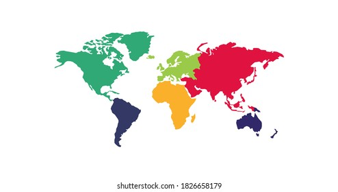 Continents, great design for any purposes. Worldwide vector illustration