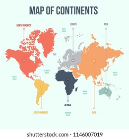 Continents of the World, Map