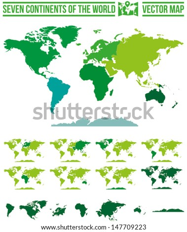 Continents World Map Vector Full Scalable Stock Vector (Royalty Free ...