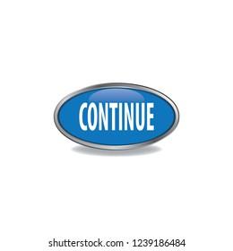 Continue vector button, web design element