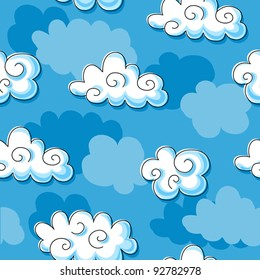 Continuous background of clouds