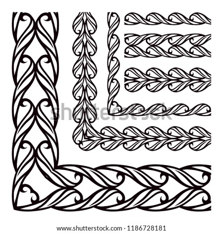 Continuous Band Angle Set Decorative Frames Stock Vector (Royalty ...