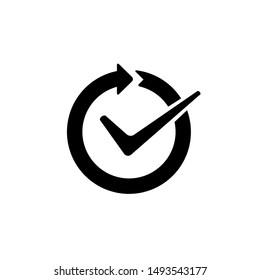 Continuous convenience simple vector icon