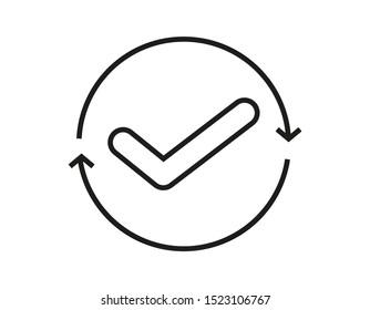 Continuous Convenient simple icon line art