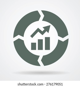 Continuous improvement cycle web icon vector illustration.