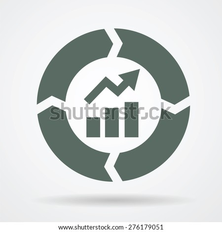 continuous improvement cycle web icon vector のベクター画像素材