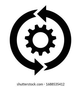 continuous improvement simple icon vector