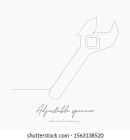continuous line drawing. adjustable spanner. simple vector illustration. adjustable spanner concept hand drawing sketch line.