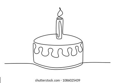 Silhouette Birthday Cake Images Stock Photos Vectors Shutterstock