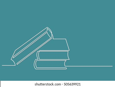 Line Drawing Pictures : Continuous line drawing books stock vector  shutterstock