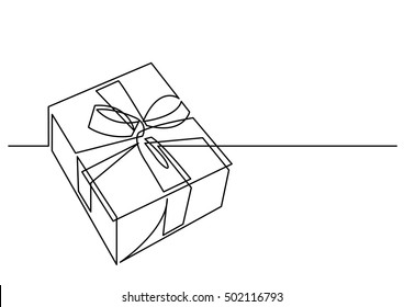 Christmas Present Drawings.Present Line Drawing Stock Illustrations Images Vectors