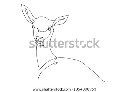 Pictures Continuous Line Drawing Of Deer Cute Animal Zoo Vector Illustration Shutterstock Continuous Line Drawing Deer Cute Animal Stock Vector royalty Free