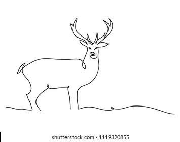 Deer Line Drawing Images Stock Photos Vectors Shutterstock