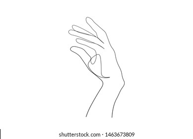 continuous line drawing of  hand prayer