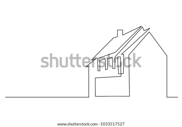 Image Vectorielle De Stock De Dessin En Ligne Continu De