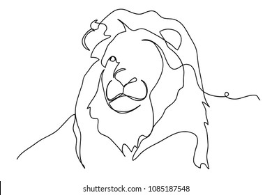 Lion Face Outline Images Stock Photos Vectors Shutterstock That is the final straw of the online lesson how to draw a lion face. https www shutterstock com image vector continuous line drawing lion wildlife vector 1085187548