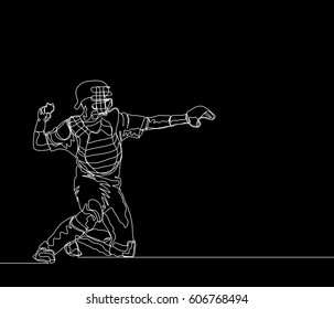 Baseball Catcher Images Stock Photos Vectors Shutterstock