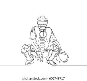 Baseball Catcher Drawing Images Stock Photos Vectors Shutterstock